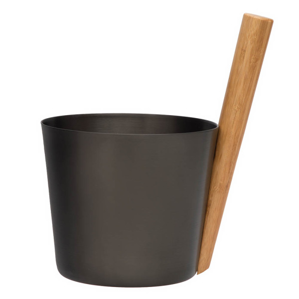 RENTO SAUNA BUCKET ALUMINIUM BROWN BLACK