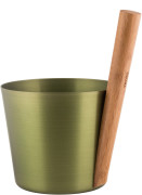 RENTO sauna bucket aluminium birch green